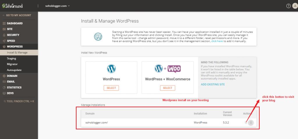 Install WordPress complete
