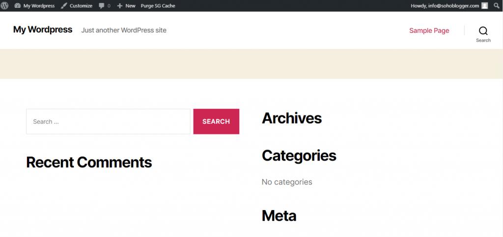 You primary blog website look like