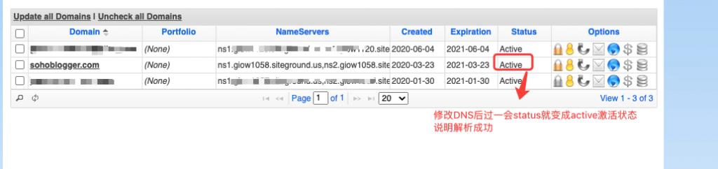 域名解析成功